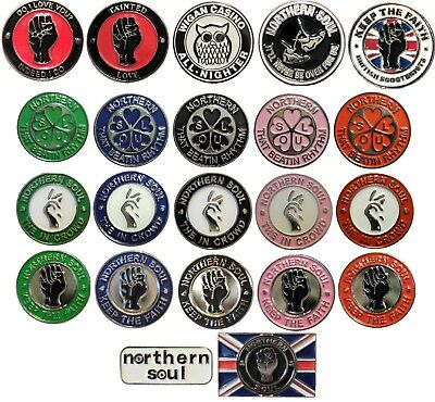 Northern Soul Keep The Faith In Crowd Scooter Scooterist MODS Music Enamel Badge