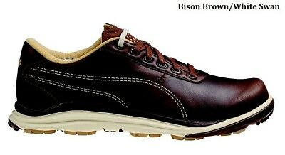 4d14e626cc2818 New Puma BioDrive Leather Golf Shoes Bison Brown  White Swan Size 7M