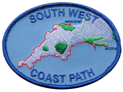 South West Coast Path Embroidered Patch - Sew or Iron on