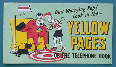 Collectibles 1950s Yellow Pages Telephone Phone Directory Advertising Blotter Testimonials