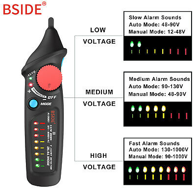 BSIDE AVD06X Dual Mode Non contact Voltage Detector AC 12-1000V Live Wire Check