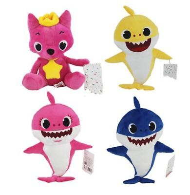 Cute Animal Soft Dolls Baby With Music Cartoon Plush Shark Toys Cotton Baby Stuf