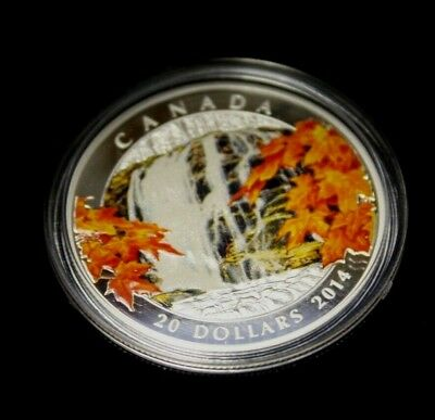2014 Canada $20 Fine Silver: Maple Autumn Falls