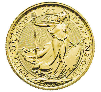 2019 Great Britain 1 oz Gold Britannia Oriental Border £100 Coin GEM BU SKU57002