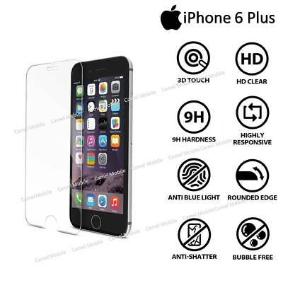 Premium Tempered Glass Screen Protector For Apple iPhone 6 Plus - 100% Genuine