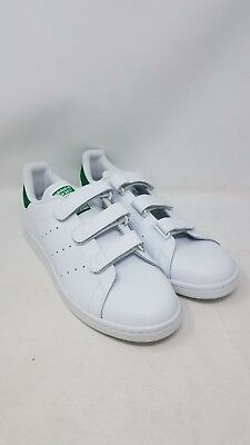 official photos d17cb de3c2 ADIDAS STAN SMITH CF White Green S75187 Straps Athletic Sneakers Men's size  10.5