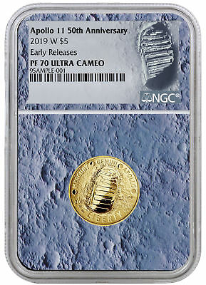 2019 W Apollo 11 50th Annv $5 Gold Commem NGC PF70 ER Moon Core PRESALE SKU56547