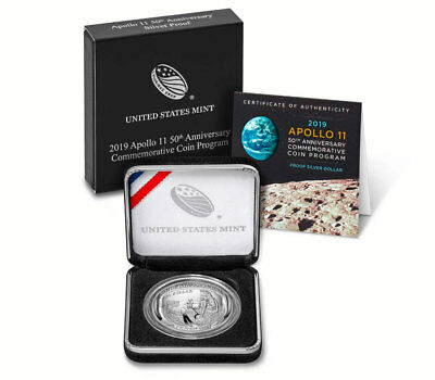 2019 Apollo 11 50th Anniv Commemorative Silver Dollar Proof OGP SKU56540