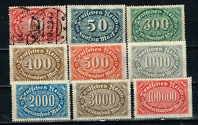 Germany Weimar Republic Start of Inflation stamps 1923 MLH/U