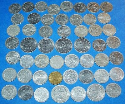 Large Lot Of German Coins: 1919 - 1942, Weimar Republic, Inflation, Third Reich!