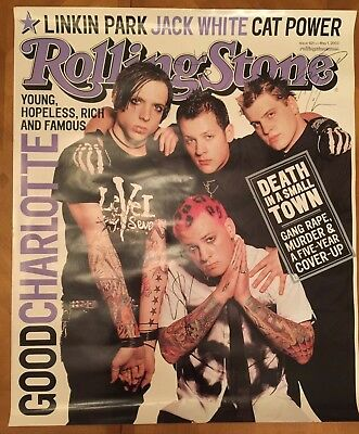 Good Charlotte Rolling Stone Autographed Promo Poster