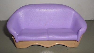 FISHER PRICE LOVING FAMILY COUCH  PURPLE /& TAN
