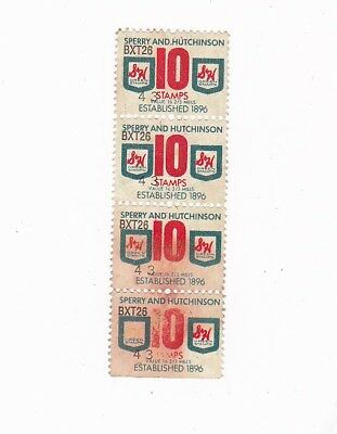 Sperry And Hutchinson Green Stamps 10 Strip Of 4