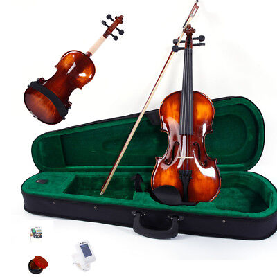 Glarry 4/4 Elegant Classic Solid Wood Violin Set with Accessories for Students