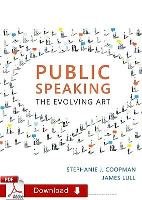 Public Speaking Evolving Art 4th Edition by James and Stephanie ¤PDF¤ EB00K