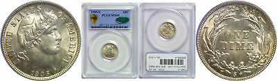 1905-S Barber Dime PCGS MS-64 CAC