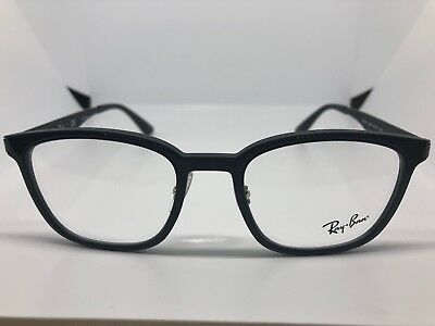 983ba54d05 NEW RAY-BAN RB 7117 5196 Black Authentic Rx Eyeglasses Rb7117 50-19 ...