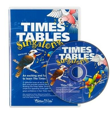 Singalong CD Times Tables / Multiplication - Gillian Miles - New - Free Post
