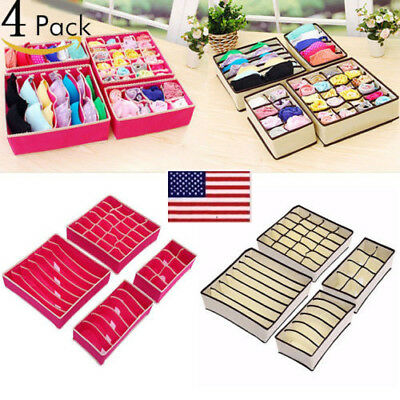 Closet Organizer Box For Underwear Socks Scarves Ties Bra Storage Drawer Divider