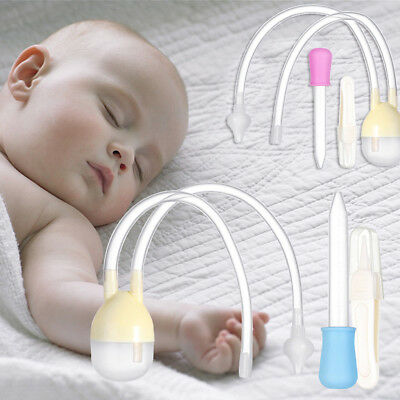 3pcs Newborn Baby Safety Nose Cleaner Kids Vacuum Suction Nasal Aspirator Set