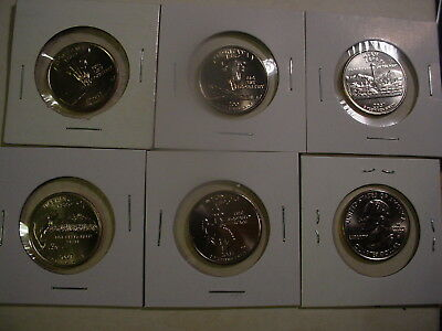 2007 All Five P State Quarters - BU - 5 Coins - Uncirculated