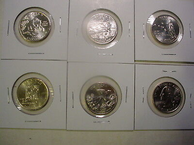 2008 All Five P State Quarters - BU - 5 Coins - Uncirculated