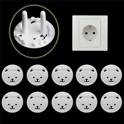 x10 Safety Child Baby Proof Electric Outlet Socket Plastic Cover for EU Plug ψ