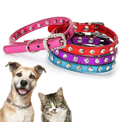 Adjustable Small Dog PU Leather Collar Puppy Pet Cat Buckle Neck Strap Novelty