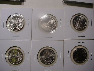 2012 All Five D America the Beautiful Quarters - BU - 5 Coins - Uncirculated