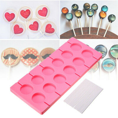 12 X Silicone Twin Star Lollipop Chocolate Mould Ice Cube Lolly Kids Fun Mould