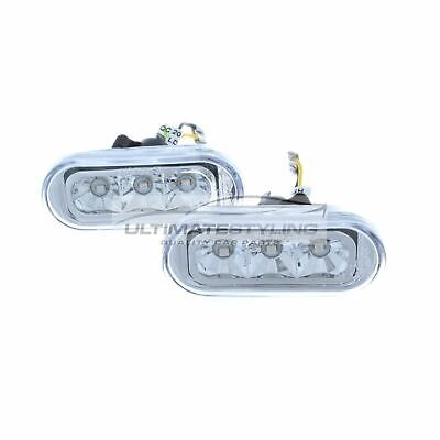 VW Passat B5.5 2000-2005 LED Crystal Side Indicator Repeaters Pair Left & Right