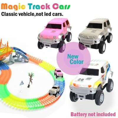 2pack Magic Track Cars New Track Vehicles Only-New Color in the Market