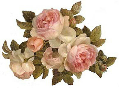 VinTaGe IMaGe MiXeD AnTiQue RoSeS ShAbBy WaTerSLiDe DeCaLs ~~GorGeouS~~