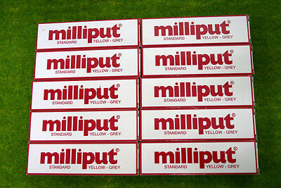 Milliput 10 packs of YELLOW GREY STANDARD PUTTY, FILLER Model Tools