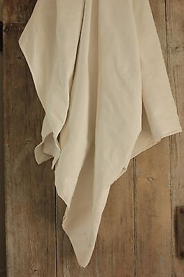 Antique French Linen Sheet 86X76 inches upholstery fabric hemp cotton ABR