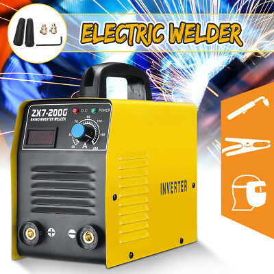 200AMP Welding Inverter Machine MMA ARC ZX7-200G Portable LCD Welder IGBT 220V