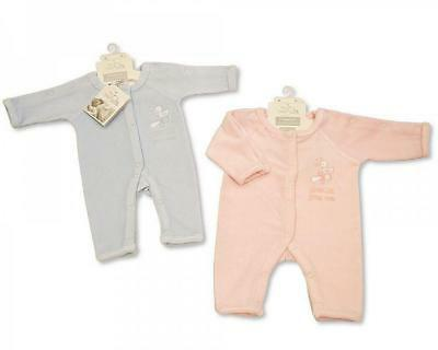 Tiny baby - premature - incubator sleepsuit - pink or blue