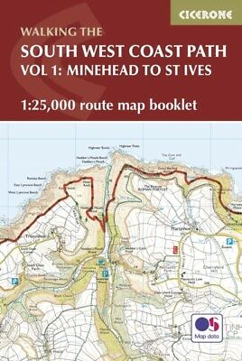 SOUTH WEST COAST PATH MAP BOOKLET MINEHE, Dillon, Paddy, 97818528...