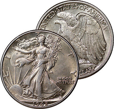 1942 Walking Liberty Half Silver Coin