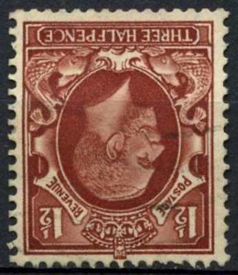 GB KGV 1934-6 SG#441wi 1.5d Red Brown Wmk Inverted Used #D82970