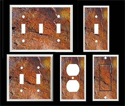 Faux Rusty Metal Image # 1  Light Switch Cover Plate Or Outlet Home Decor