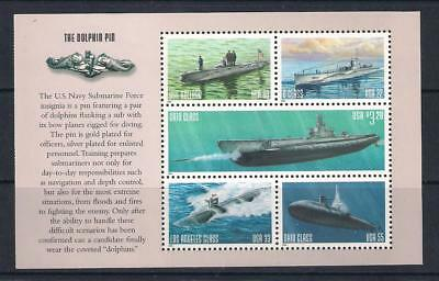 USA US mint stamps - 2000 US Navy Submarines Booklet Pane, SG3743/3747, MNH