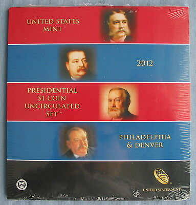2012 P & D US Mint Presidential $1 8-Coin Uncirculated Set *Sealed* (dollar)