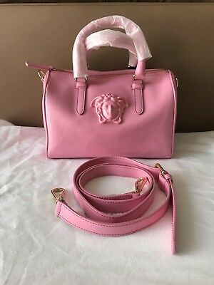 da08c34023 VERSACE  995 MEDUSA Palazzo Pink Leather Small Doctor Bag . NWT ...