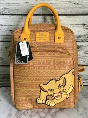 9a7ed486c1c9 Loungefly Disney The Lion King Simba Tribal Print Mini Faux Leather Backpack  New