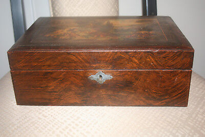 Circa 1860 Grain Painted Traveling Writiner's Desk. Probably For A Top Offical