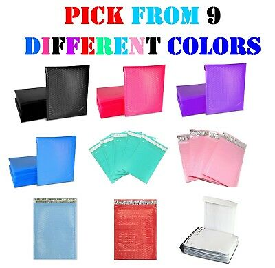 #000 4x8 Colored Poly Bubble Mailers Padded Envelopes Shipping Bags Mailing 4x7