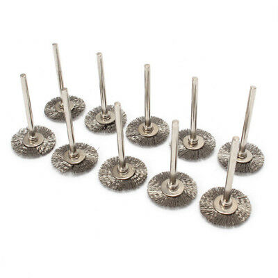 10Pc 38mmStainless Steel Wire Brush Set Dremel Tool Rotary Grinder Removal Wheel