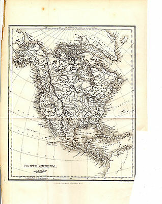 Antique Alexander George Findlay Map Of North America - Steel-Engraved (1853)
