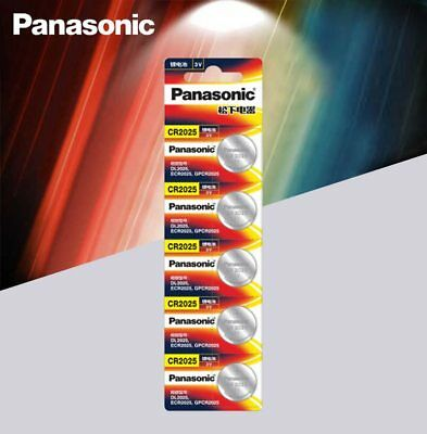 5pcs Panasonic cr2025 3V cell coin button battery for watch/ computer cr 2025